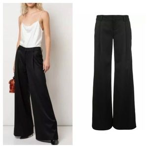 Alice + Olivia Eric Wool Pleat Wide Leg Pants